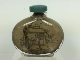 Large Glass Snuff Bottle