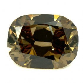 1.74ct Cushion Cut Brown Diamond No Cert