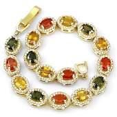 Stunning Natural Fancy Sapphire Bracelet