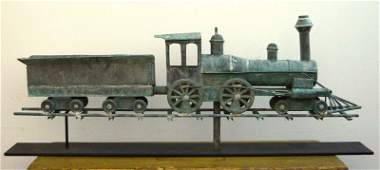 Rare Locomotive Weathervane