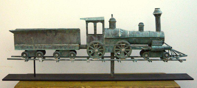 Rare Locomotive Weathervane