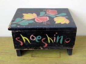 Paint Decorated Shoeshine Box