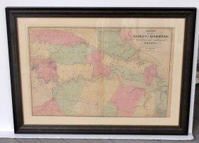 Map Of Richmond, Virginia By Johnson, 1862 (james,