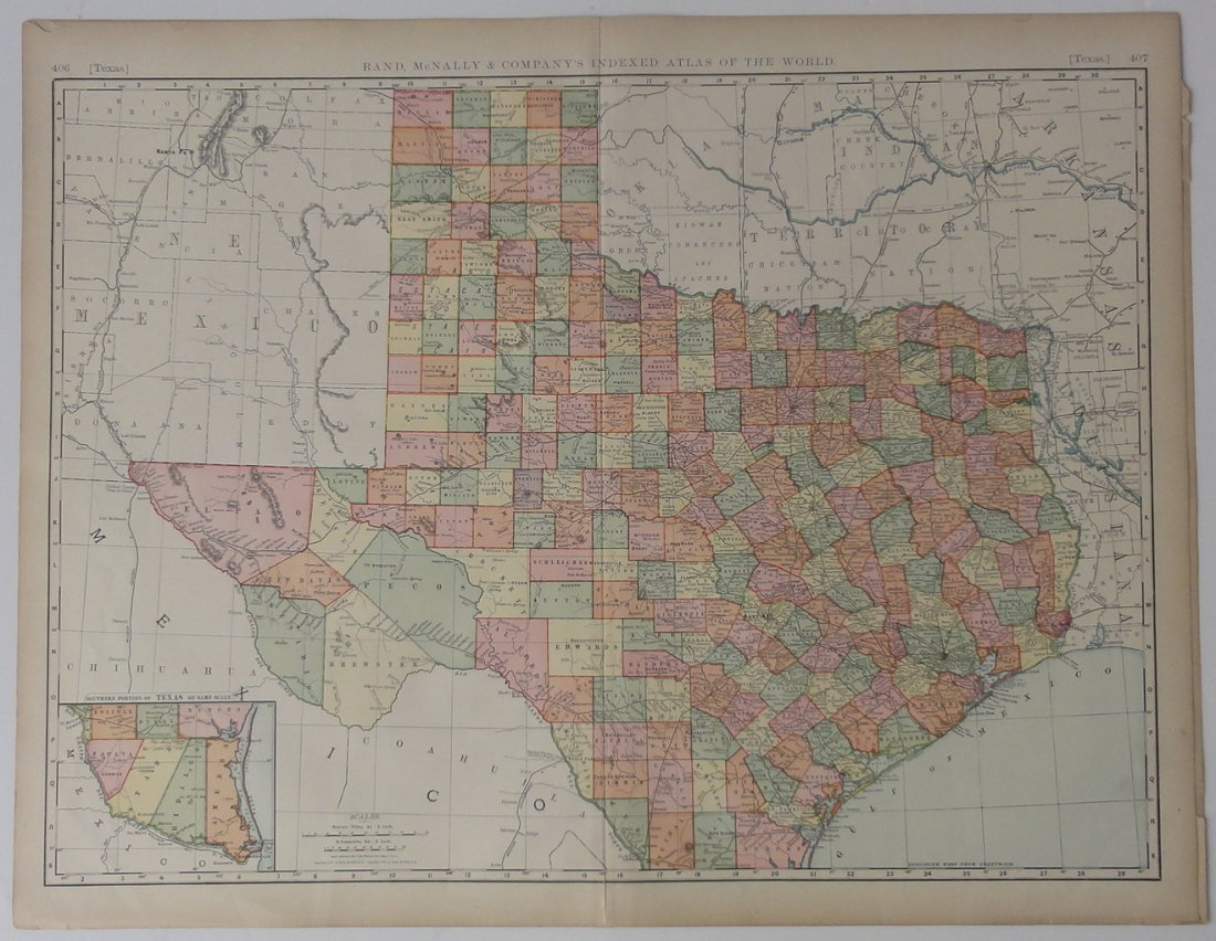 Map of Texas, 1899