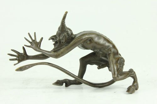decorative bronze sculpture on marble base