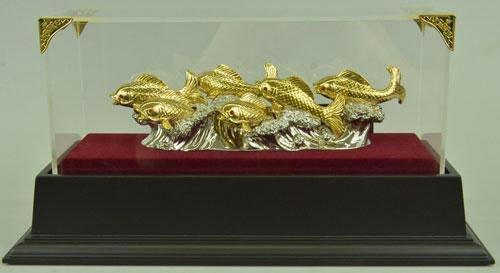 24K golden plated bronze sculpture