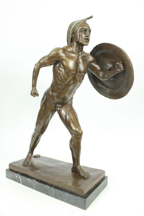 Roman Princess With Toga Bronze Sculpture