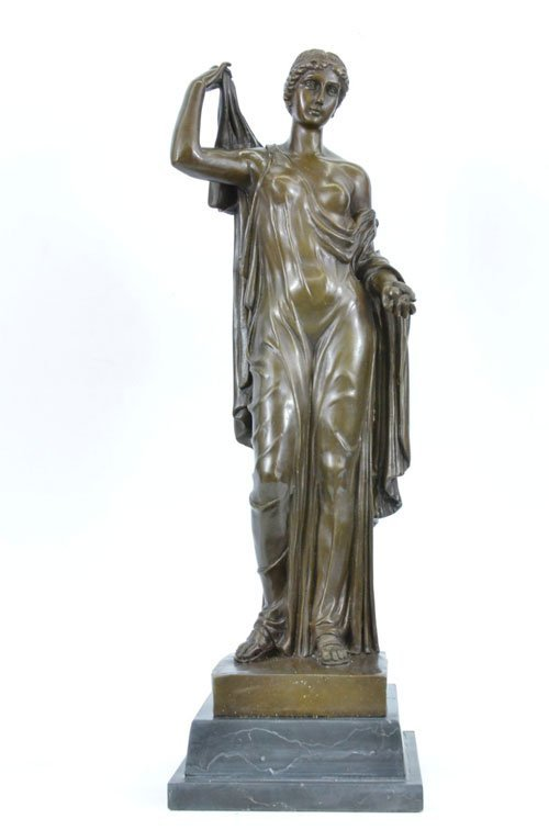 great looking bronze sculpture on marble base