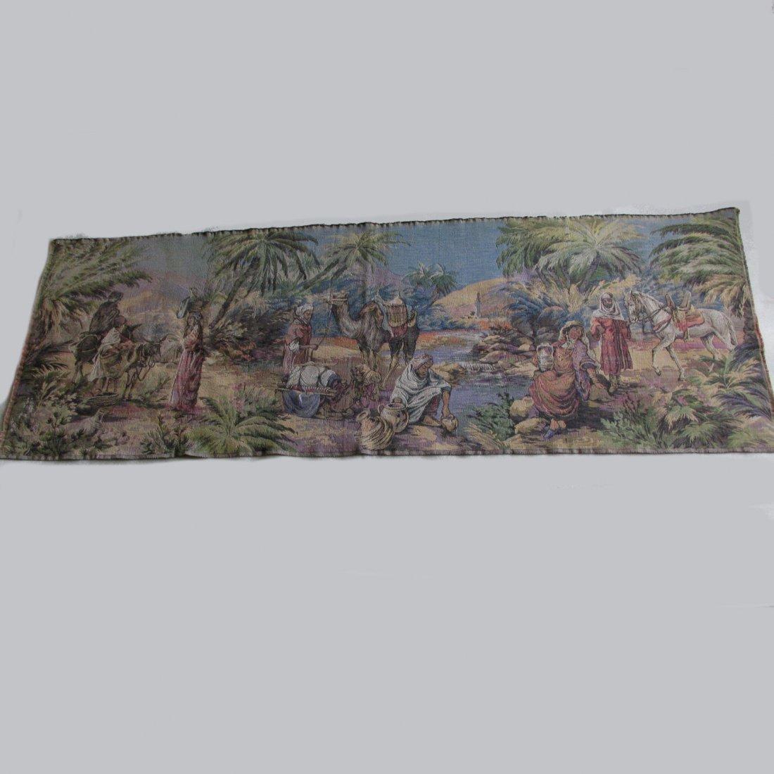 Antique Moorish Arabesque Tapestry Wall Hanging