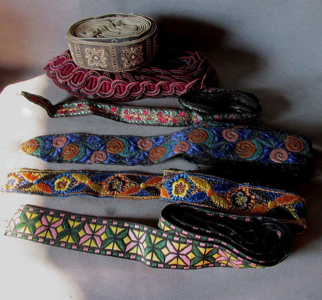 Arts & Crafts, Art Nouveau Silk & Metallic Lace, Trim