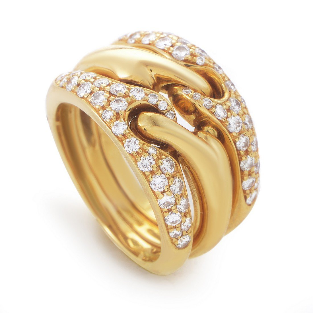 Bvlgari 18K Yellow Gold Diamond Band