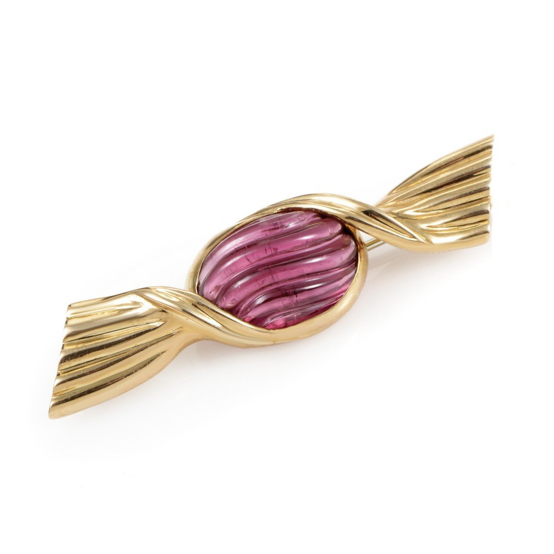Bvlgari 18K Yellow Gold Tourmaline Bonbon Brooch