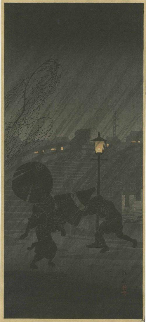 SHOTEI TAKAHASHI (HIROAKI) - SUDDEN SHOWER AT NIGHT ON