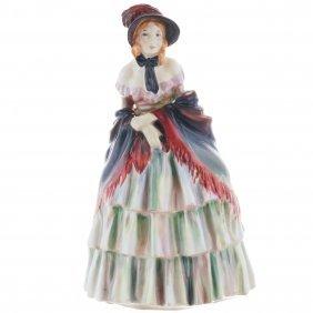 "Royal Doulton Figurine Victorian Lady Hn1208, H. 7.75"""