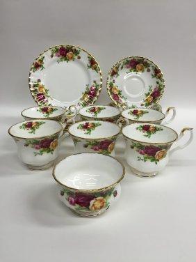 19 Royal Albert Tea Service Pieces