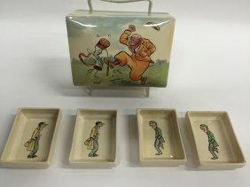 "Royal Doulton Golf Box With Trays , W. 4.25"""