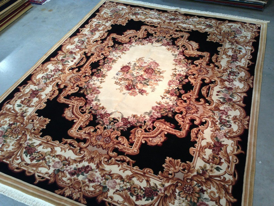 8X10 FRENCH AUBUSSON HAND KNOTTED RUG