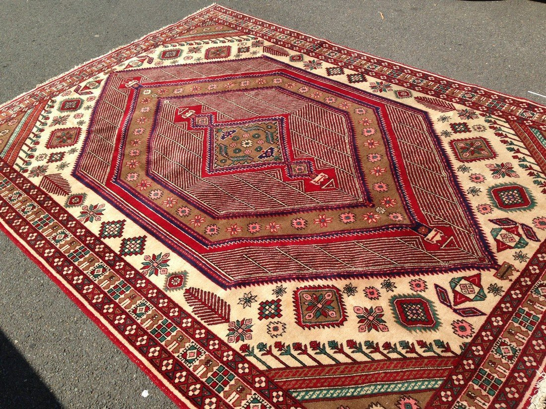 8x12 GORGEOUS  AUTHENTIC HAND KNOTTED PERSIAN WOOL RUG