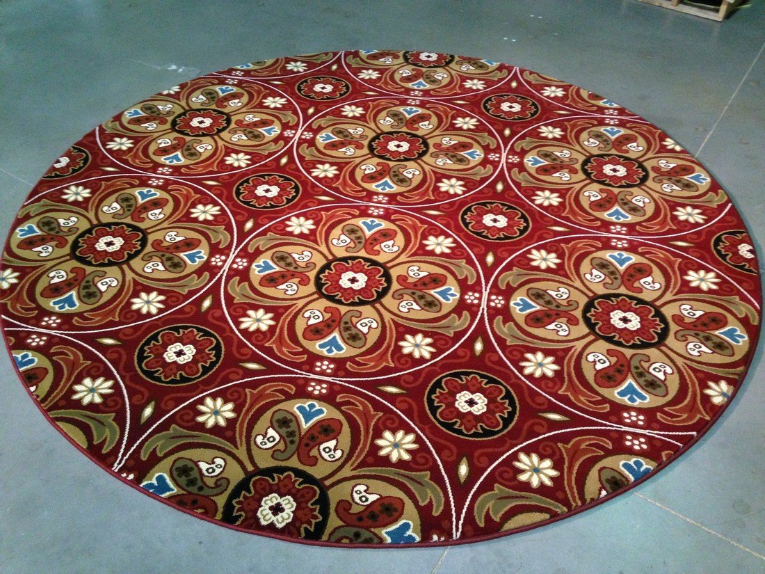 6 FT ROUND MODERN & COLORFUL DESIGN AREA RUG