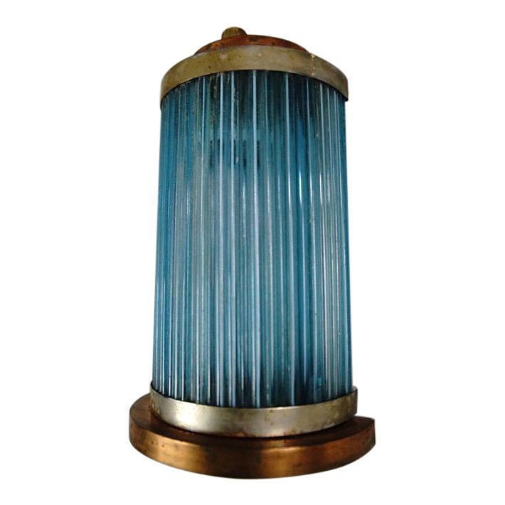 **Single Italain Small Vintage Sconce, blue glass strow