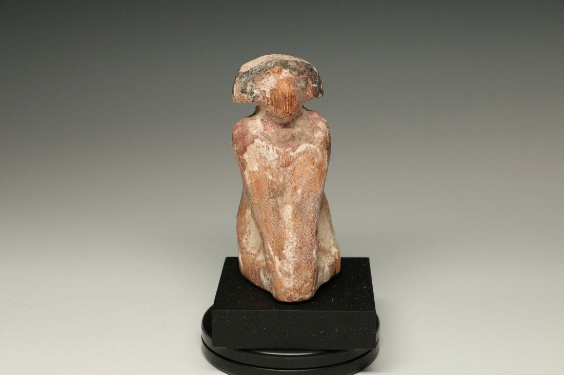 EGYPTIAN CARVED WOOD BOATMAN Middle Kingdom ca. 2133 -