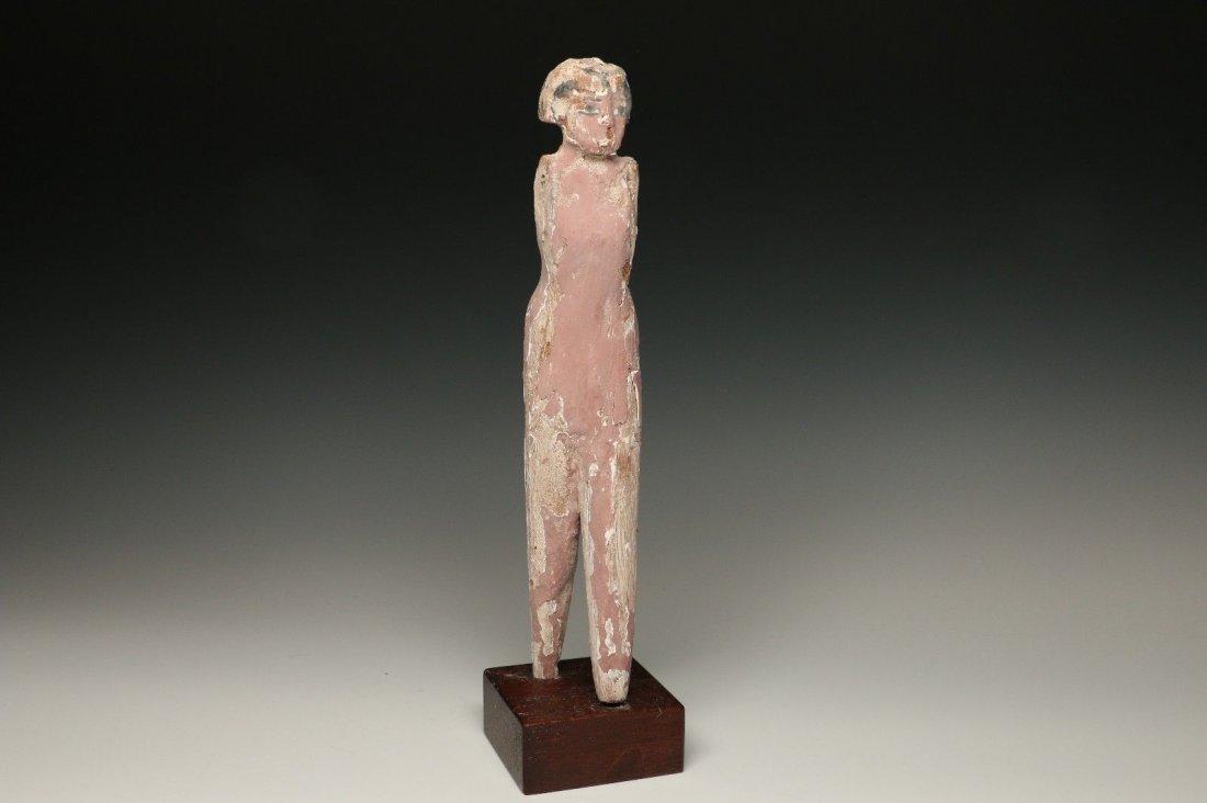 EGYPTIAN WOODEN FEMALE TOMB ATTENDANT