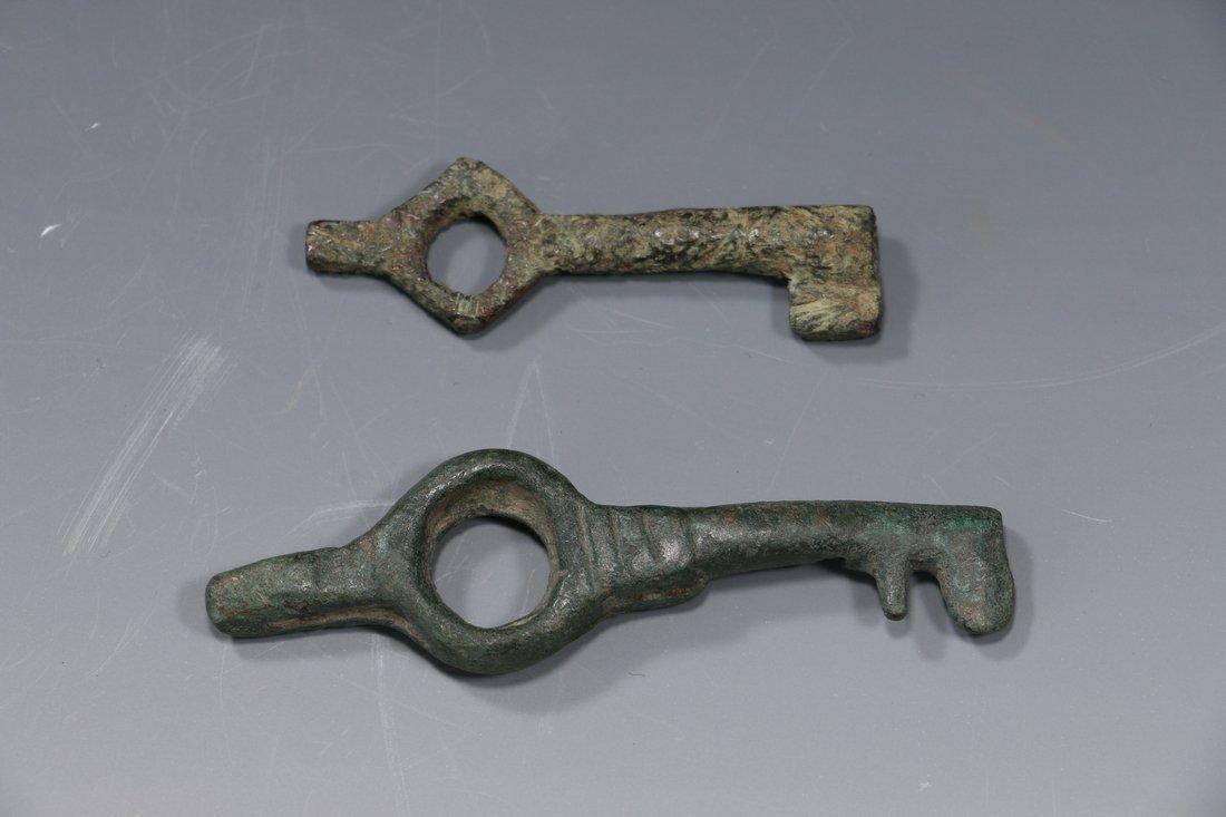 Roman Bronze Key (Lot of 2) circa. 1st - 3rd Century