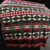 1920s Native American Indian Camp Blanket Rolling Log