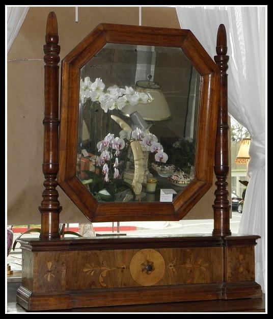 Unusual Antique 18th C Italian Inlaid Fruitwood Table