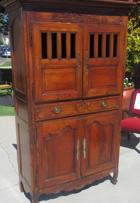 Antique 18th C French Country Vassilier Cabinet Dresser