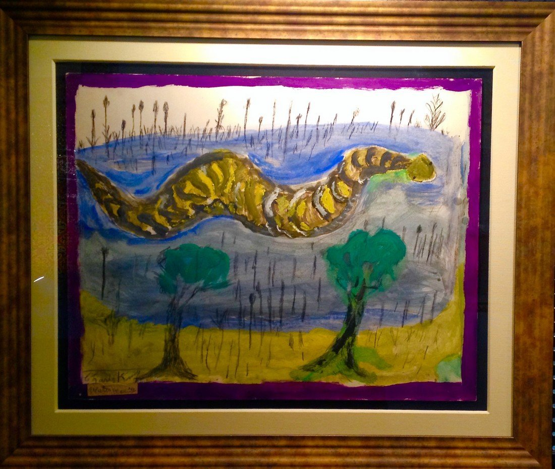 Water Moccasin by Self-taught Kentucky Artist Charley