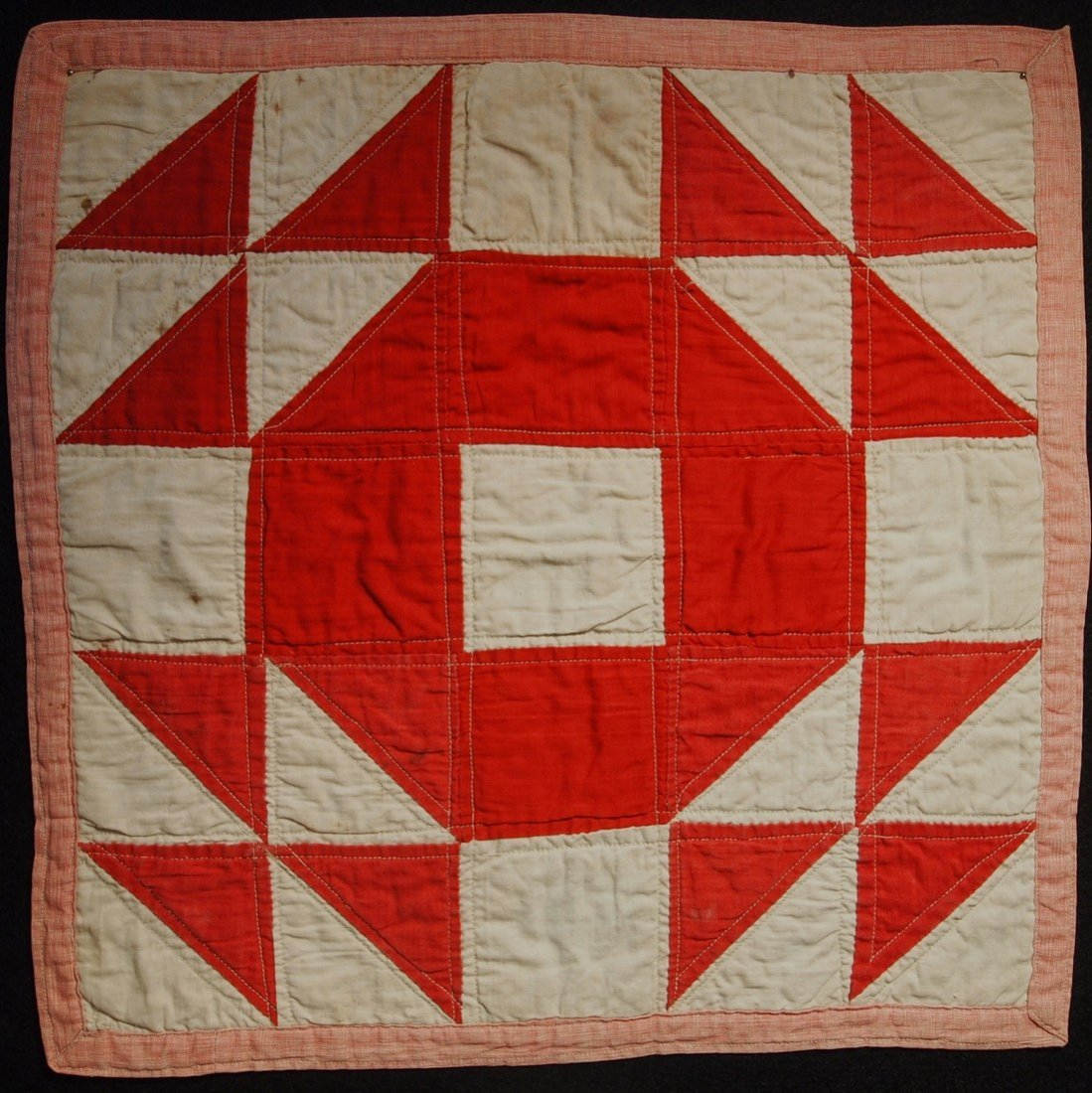 Turkey Red and White Doll Quilt