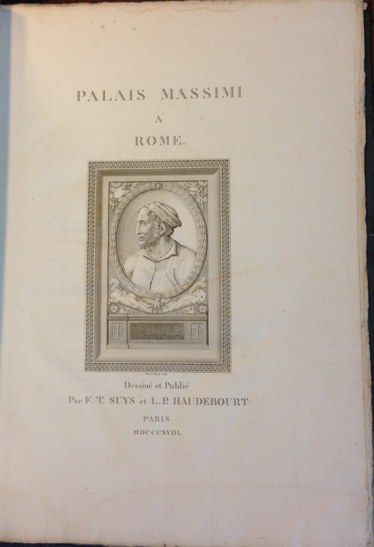 Palais Massimi a Rome. Plans, Coupes, Elevations