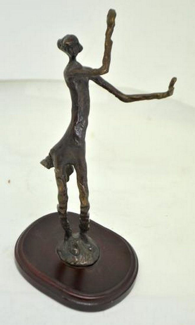 FINELY DONE DANCING FEMALE FIGURE BRONZE