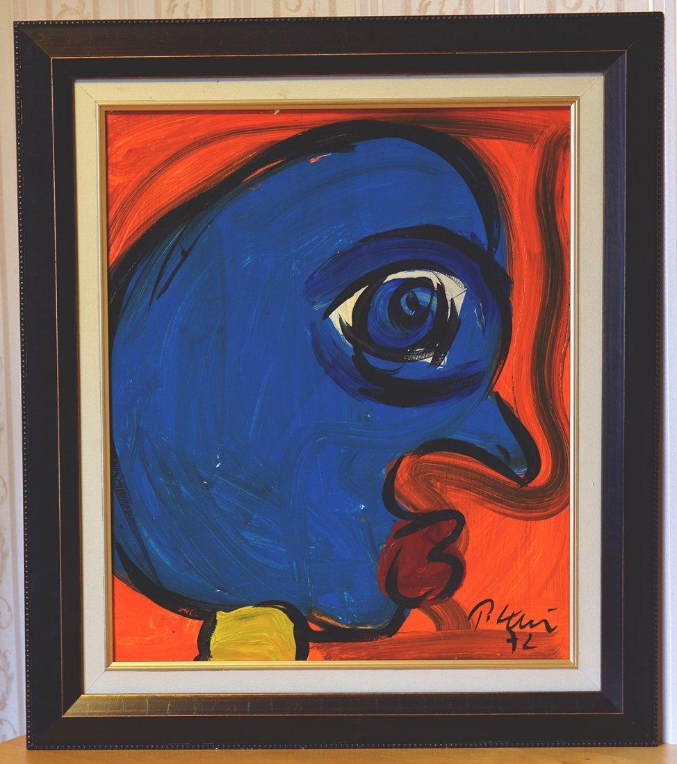 """Peter Keil,Face 6,Berlin 1972, 24""""x20"""""""