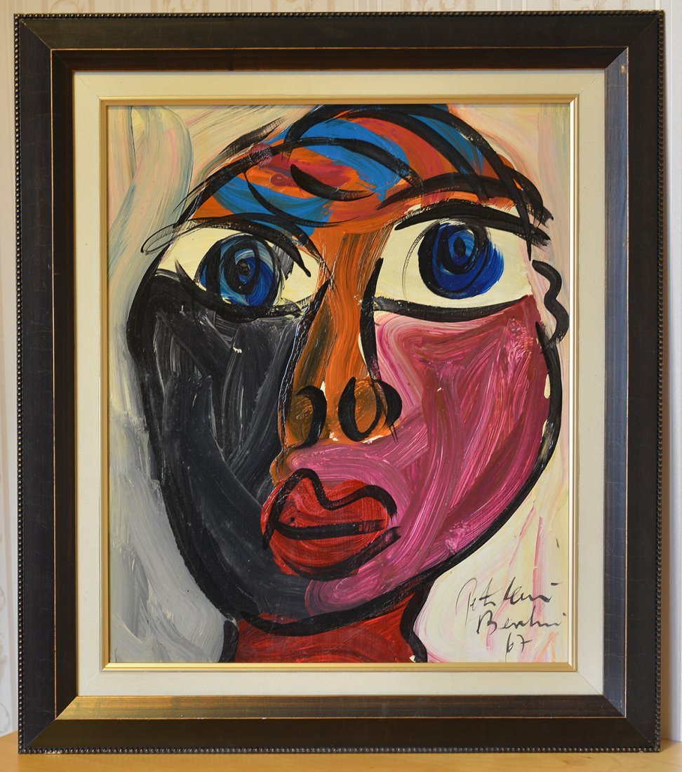 Great Painting by Peter Keil, Face 7, Berlin, 1976