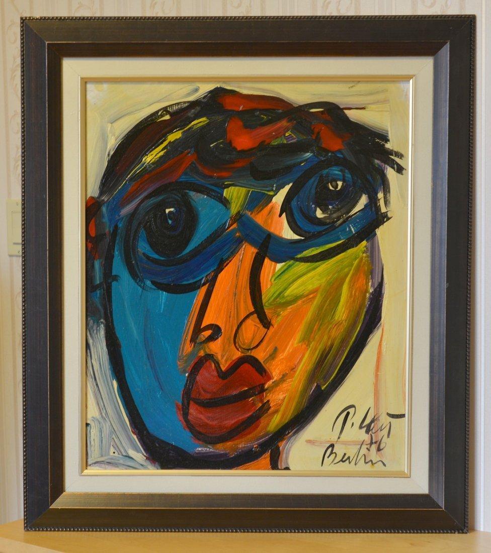 "Peter Keil Acrylic on Board,Face10,24""x20"""