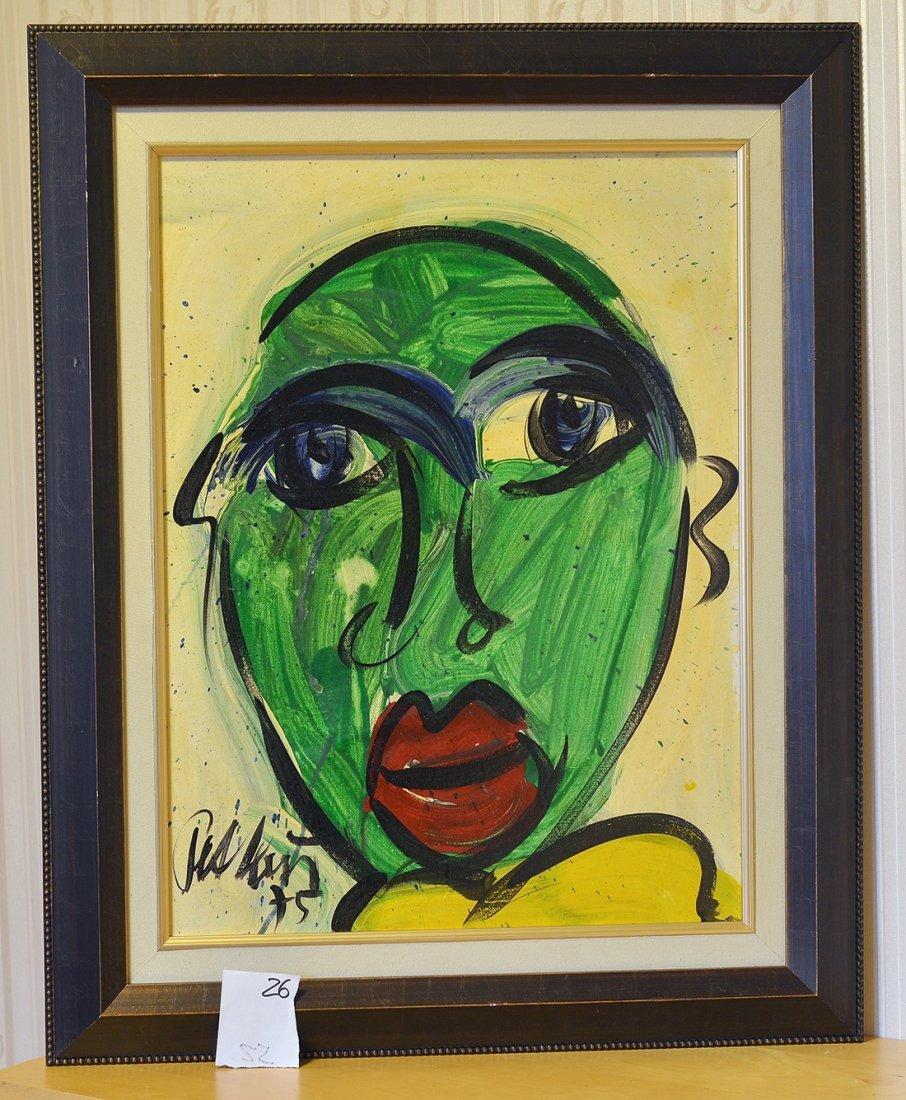 Great painting by Peter Keil,False Domino,Berlin,