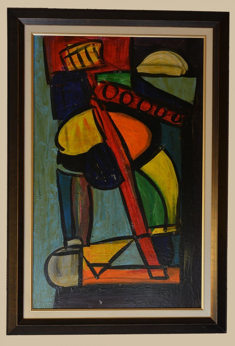 Vintage Peter Keil Acrylic On Board,Abstract
