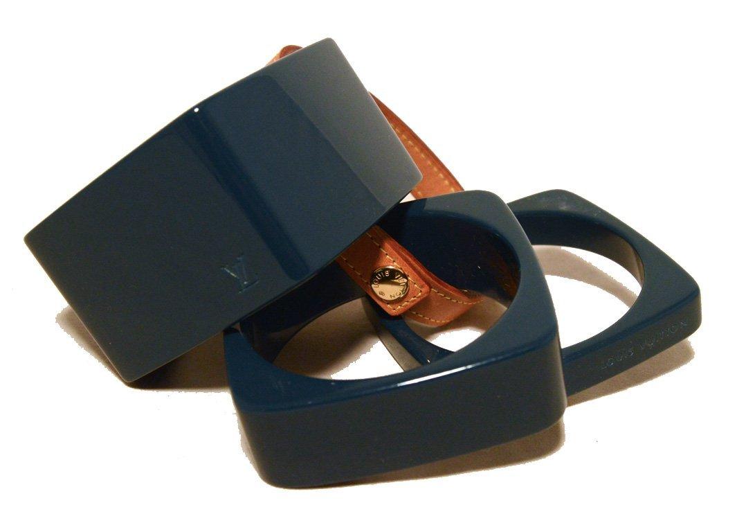 Louis Vuitton Dark Teal Bangle Bracelet Set