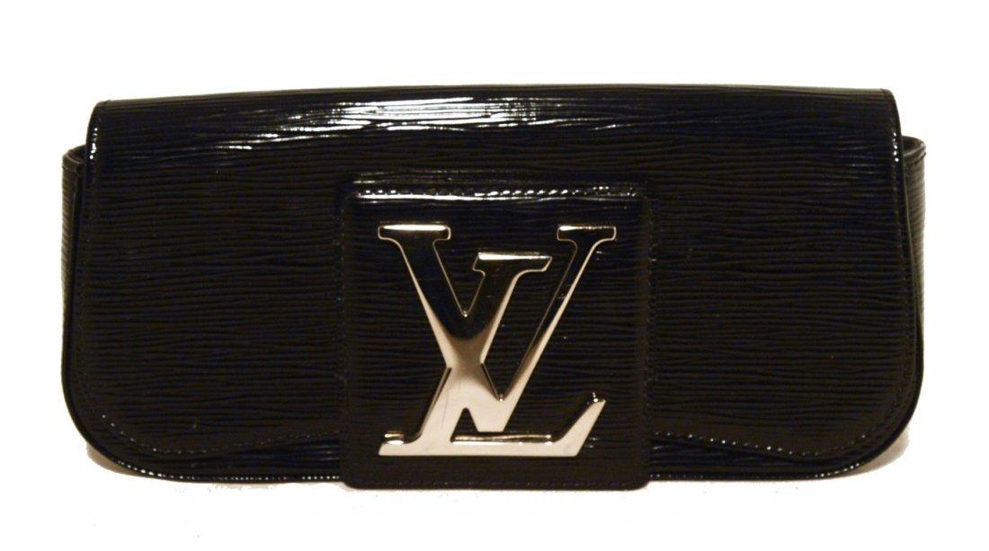 Louis Vuitton Black Epi and Patent Leather Clutch