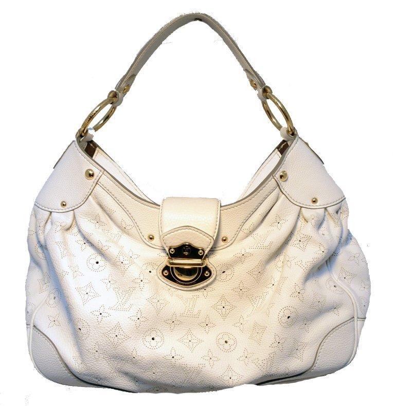 Louis Vuitton White Leather Mahina Solar PM Shoulder