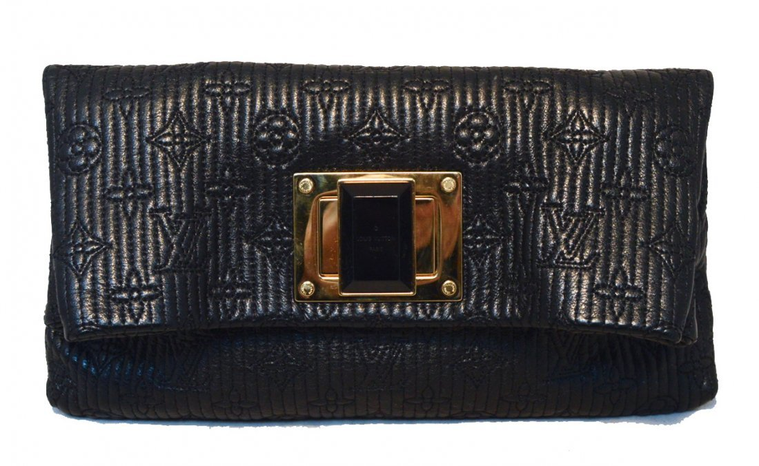 Louis Vuitton Black Leather Altair Clutch