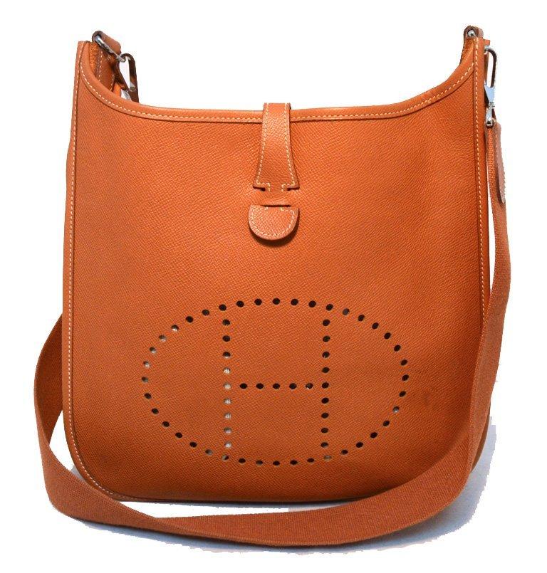 Hermes Natural Tan Epsom Leather Evelyn I PM Shoulder