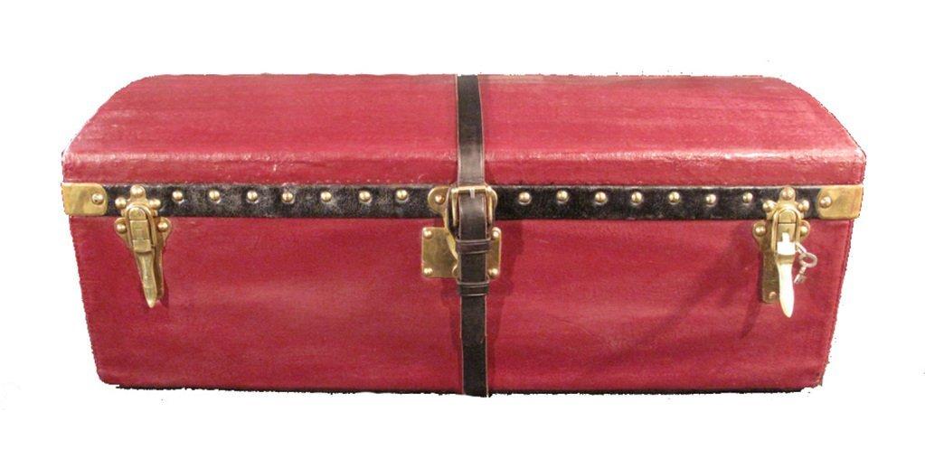 Louis Vuitton Red Vuittonite Cabin Trunk c1900