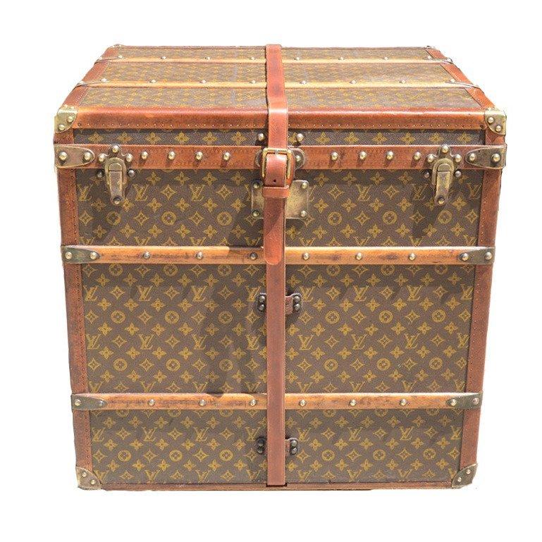 Antique Louis Vuitton Peggy Guggenheim Cube Trunk,