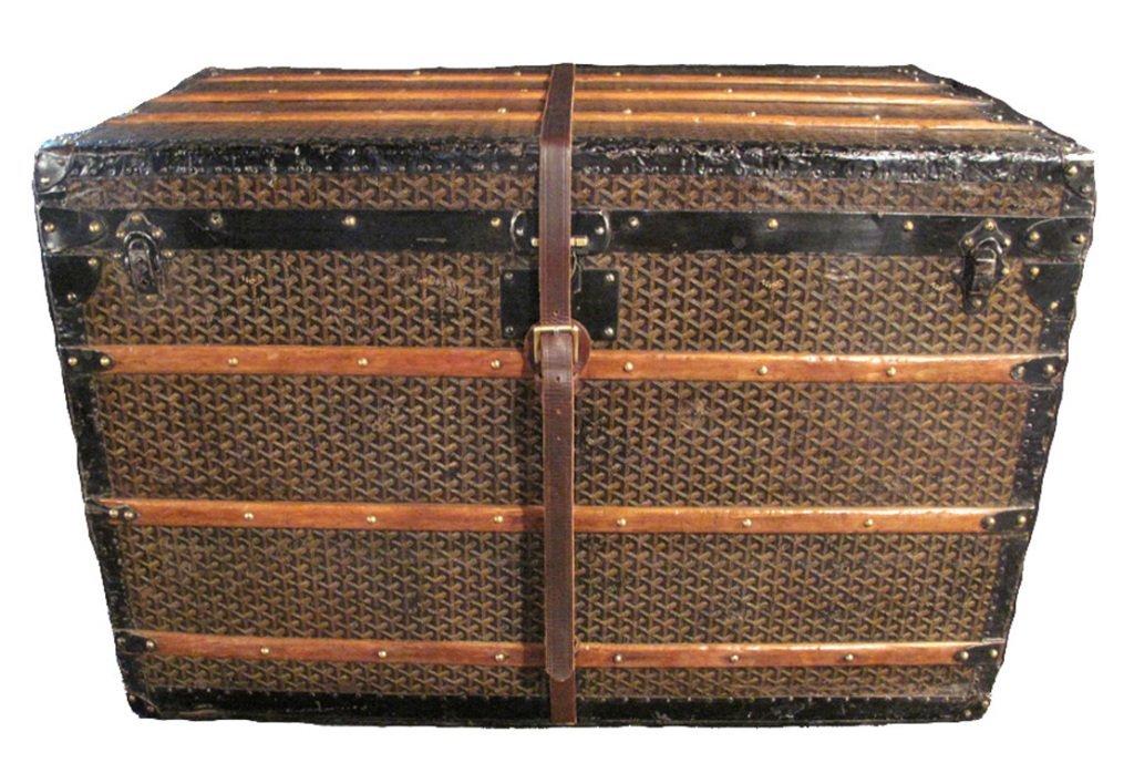 Goyard Steamer Trunk with Four Trays c1900