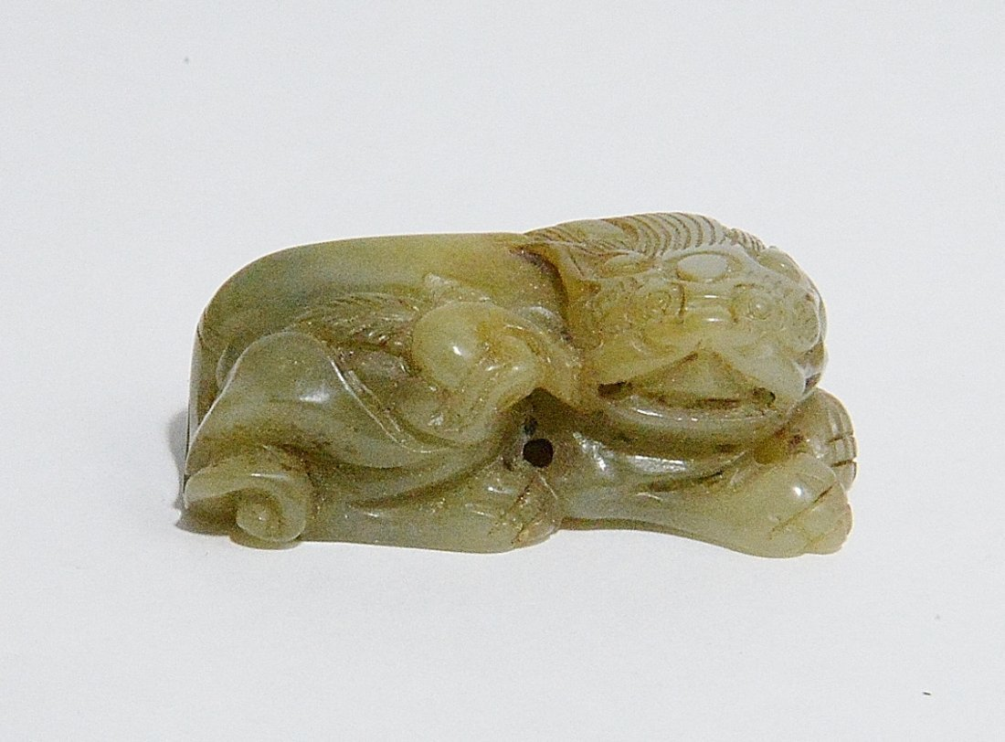 Nice Hand Carved Chinese Antique Jade Table Ornament