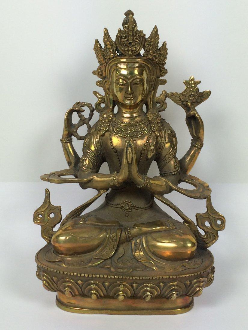 Metal Sitting Buddha
