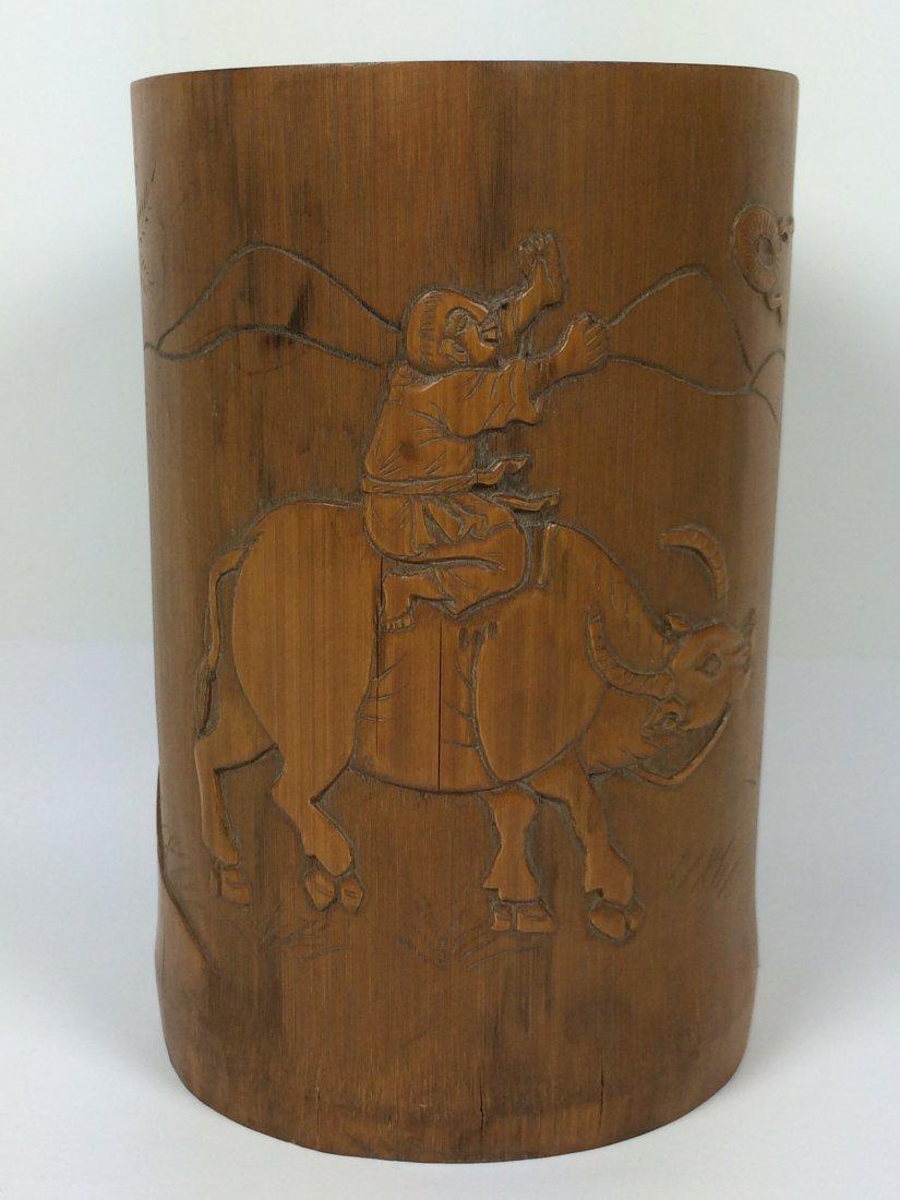 Bamboo Carving Brushpot